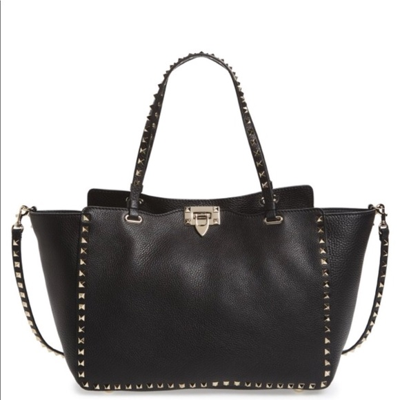 5cfec145a2 Valentino Bags | Rockstud Grained Calfskin Leather Tote | Poshmark